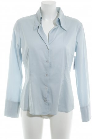 More & More Langarm-Bluse himmelblau Business-Look