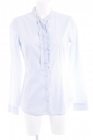 More & More Langarm-Bluse himmelblau-weiß Streifenmuster Romantik-Look