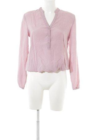 More & More Blouse à manches longues rosé-blanc motif de tache