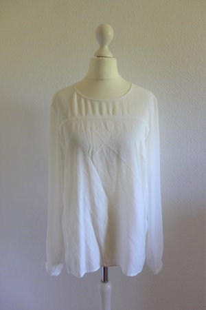 More & More Langarm Bluse Shirt Oberteil Top weiß offwhite Gr. 36
