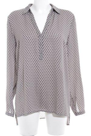 More & More Langarm-Bluse taupe-graubraun abstraktes Muster Business-Look