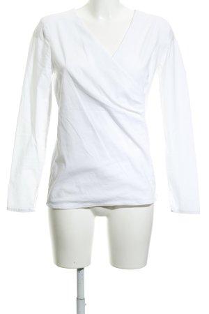 More & More Blouse à manches longues blanc élégant