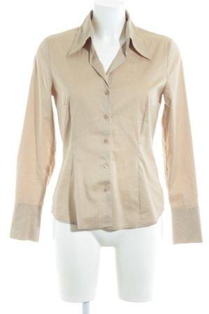 More & More Chemise à manches longues beige style d'affaires