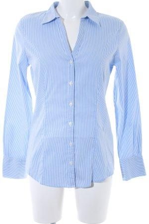More & More Langarmhemd kornblumenblau-weiß Streifenmuster Business-Look