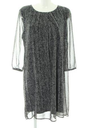 More & More Langarmkleid schwarz-weiß Streifenmuster Elegant
