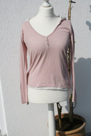 More & More Hooded Shirt light pink cotton