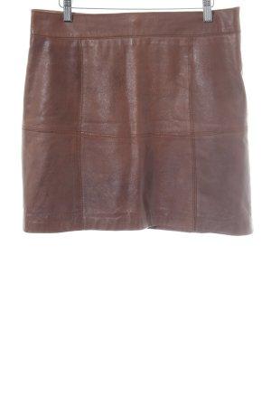More & More Lederrock braun schlichter Stil