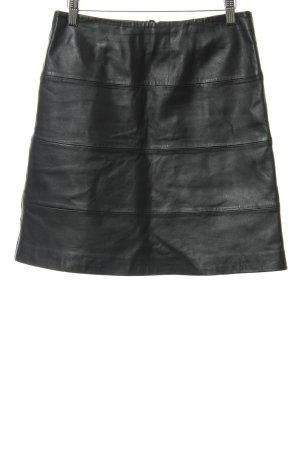 More & More Lederrock schwarz-silberfarben Biker-Look
