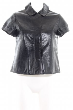 More & More Leather Vest black casual look