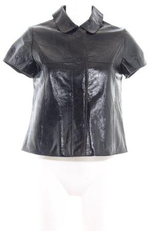 More & More Smanicato in pelle nero stile casual