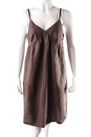 More & More Leinenkleid braun