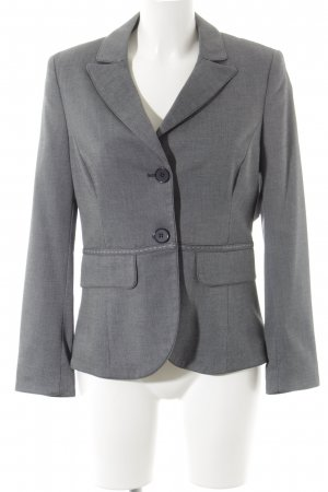 More & More Long-Blazer anthrazit-wollweiß meliert Business-Look