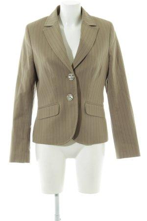 More & More Long-Blazer khaki Streifenmuster Business-Look