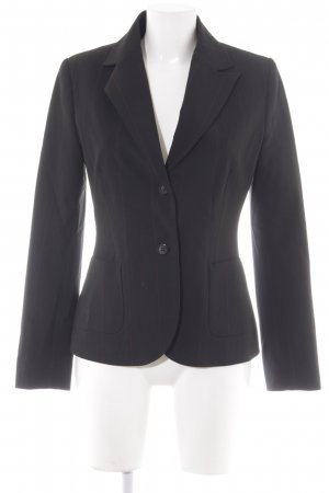 More & More Long-Blazer schwarz Nadelstreifen Business-Look