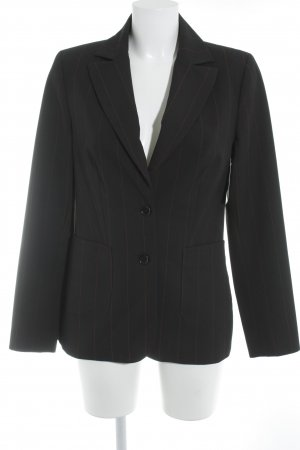 More & More Long-Blazer schwarz-rot Nadelstreifen Business-Look