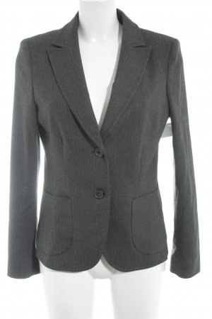 More & More Long-Blazer taupe-schwarz Hahnentrittmuster Business-Look