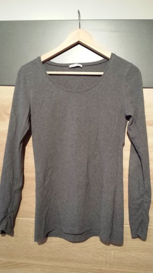 More & More Longsleeve Basic Top Grau