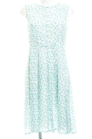 More & More Robe mi-longue blanc cassé-turquoise motif de tache