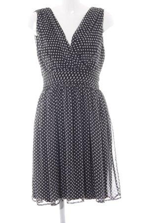 More & More Minikleid schwarz-weiß Punktemuster Casual-Look