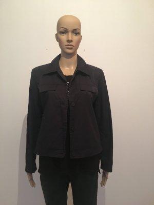 More&More & More Blazer 38 Jacket Jackett gefüttert Navy dunkelblau fast schwarz matt Glanz edel minimalistisch seitlich versteckte Taschen blusenjacke