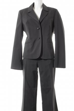 More & More Pinstripe Suit dark grey pinstripe business style
