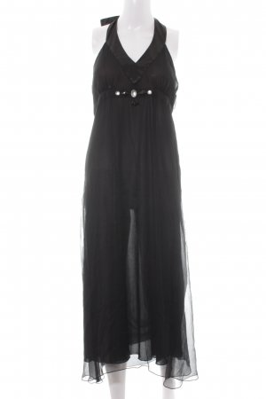 More & More Vestido de cuello Halter negro elegante