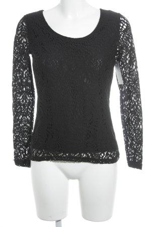 More & More Netzshirt schwarz Elegant
