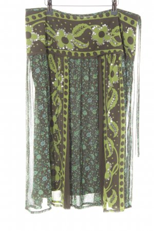 More & More One Shoulder Dress mixed pattern casual look