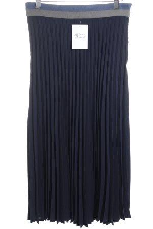 More & More Plisseerock dunkelblau-hellgrau minimalistischer Stil