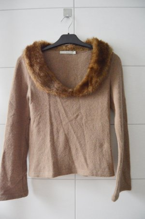 More & More Pullover gr.38 braun Wolle Italy