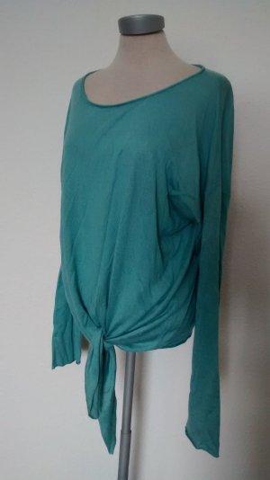 more & more Pullover Pulli türkis blau neu Gr. 40 M L zum Binden Schleife