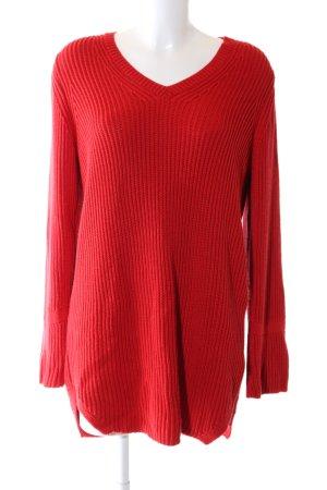 More & More Abito maglione rosso stile casual