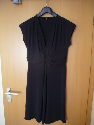 More & More Vestido de tela de jersey negro Poliéster