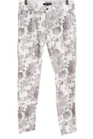 More & More Drainpipe Trousers allover print romantic style