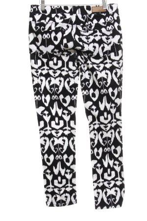 More & More Drainpipe Trousers white-black allover print casual look