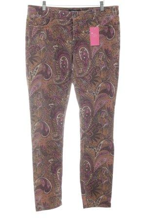 More & More Jeans cigarette motif paisley style décontracté