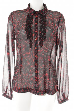More & More Ruche blouse gestippeld patroon casual uitstraling