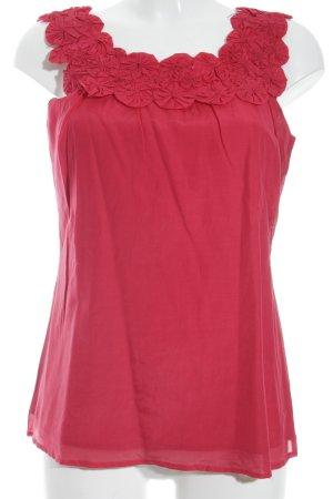 More & More Rüschen-Bluse rot 50ies-Stil