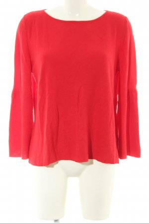More & More Rundhalspullover rot Casual-Look