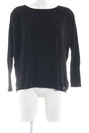 More & More Rundhalspullover schwarz minimalistischer Stil