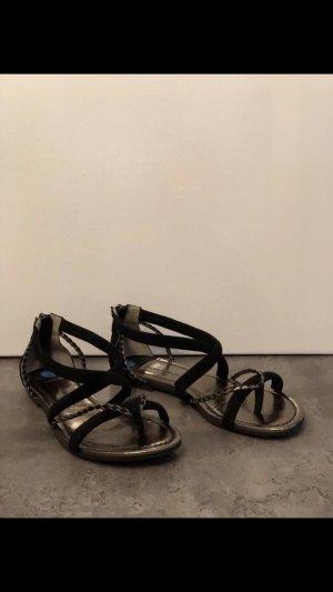 More & More Roman Sandals black-bronze-colored