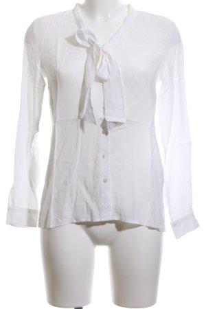 More & More Blusa collo a cravatta bianco stile professionale