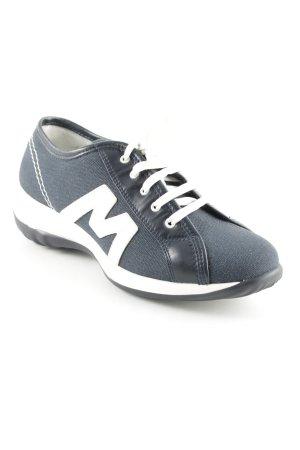 More & More Schnürschuhe weiß-dunkelblau sportlicher Stil