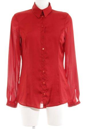 More & More Blouse en soie rouge foncé style des années 90