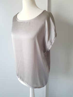 MORE & MORE Shirt, Satinstoff, silber/hellgrau, Gr.40