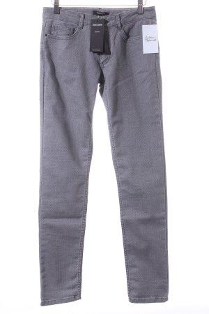 More & More Skinny Jeans grau-schwarz Punktemuster Casual-Look
