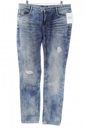 More & More Slim Jeans blue-azure color gradient casual look