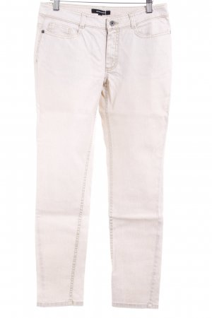 More & More Slim Jeans creme-goldfarben Casual-Look