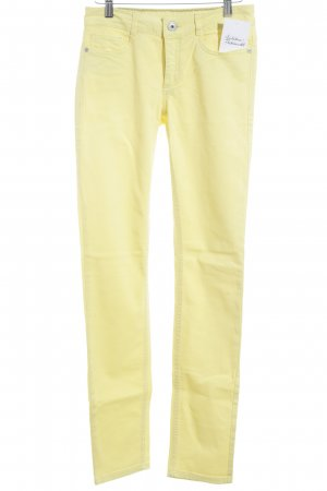 More & More Slim Jeans gelb extravaganter Stil