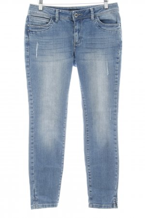 More & More Slim jeans staalblauw casual uitstraling
